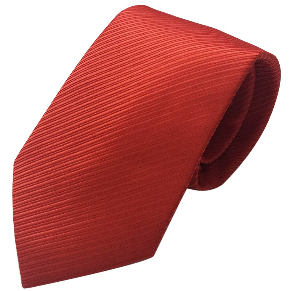 Mens Necktie with Stripe Textured 8 cm / 3 inches- Various Colors (Burgundy) HongJI e-Commerce