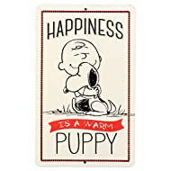 Open Road Brands Peanuts Happiness Embossed Metal Sign