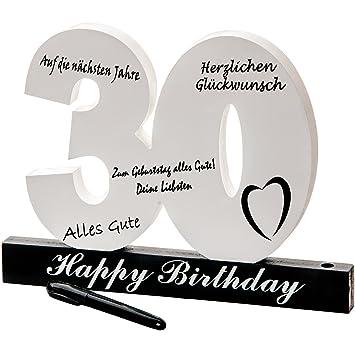 Número de cumpleaños del 30 cumpleaños individual Número de cumpleaños para etiquetar, todos los invitados se perpetúan en la fiesta (30.)