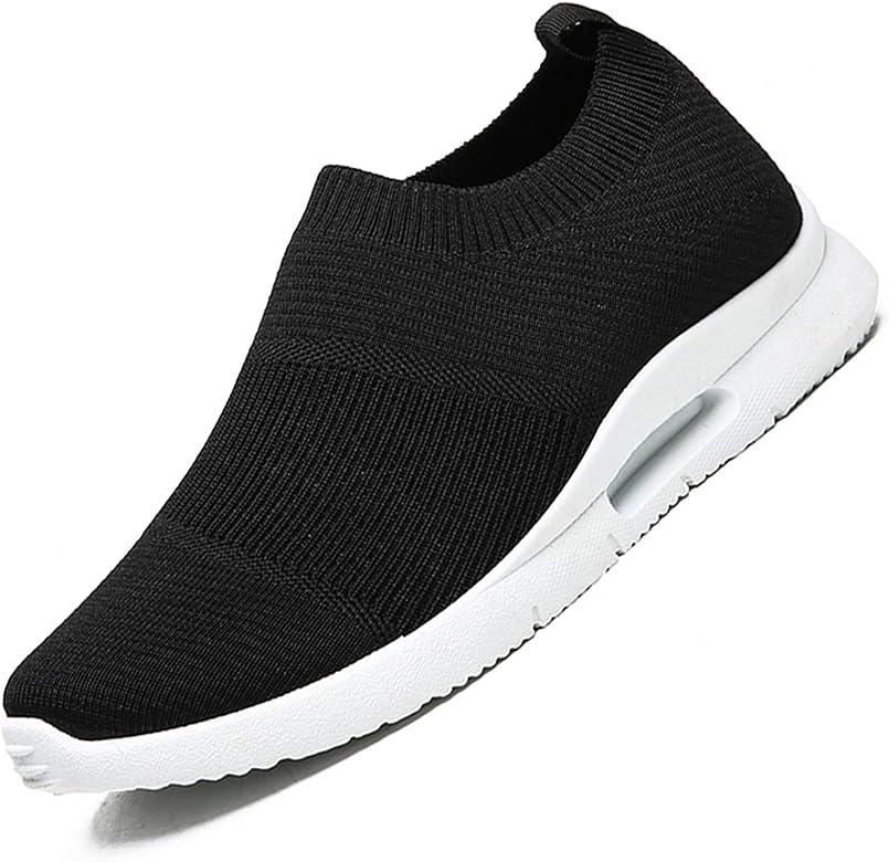 Damyuan Zapatillas Deportivas para Hombre Casual Running Tenis Gym Correr Gimnasio Bambas Sneakers Zapatos Negro/Blanco 39 EU: Amazon.es: Zapatos y complementos