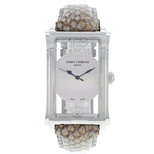 Cuervo Y Sobrinos A1011/2 - Reloj para hombres, correa de cuero: Amazon.es: Relojes