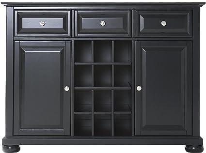 Crosley Furniture Alexandria Wine Buffet / Sideboard   Black