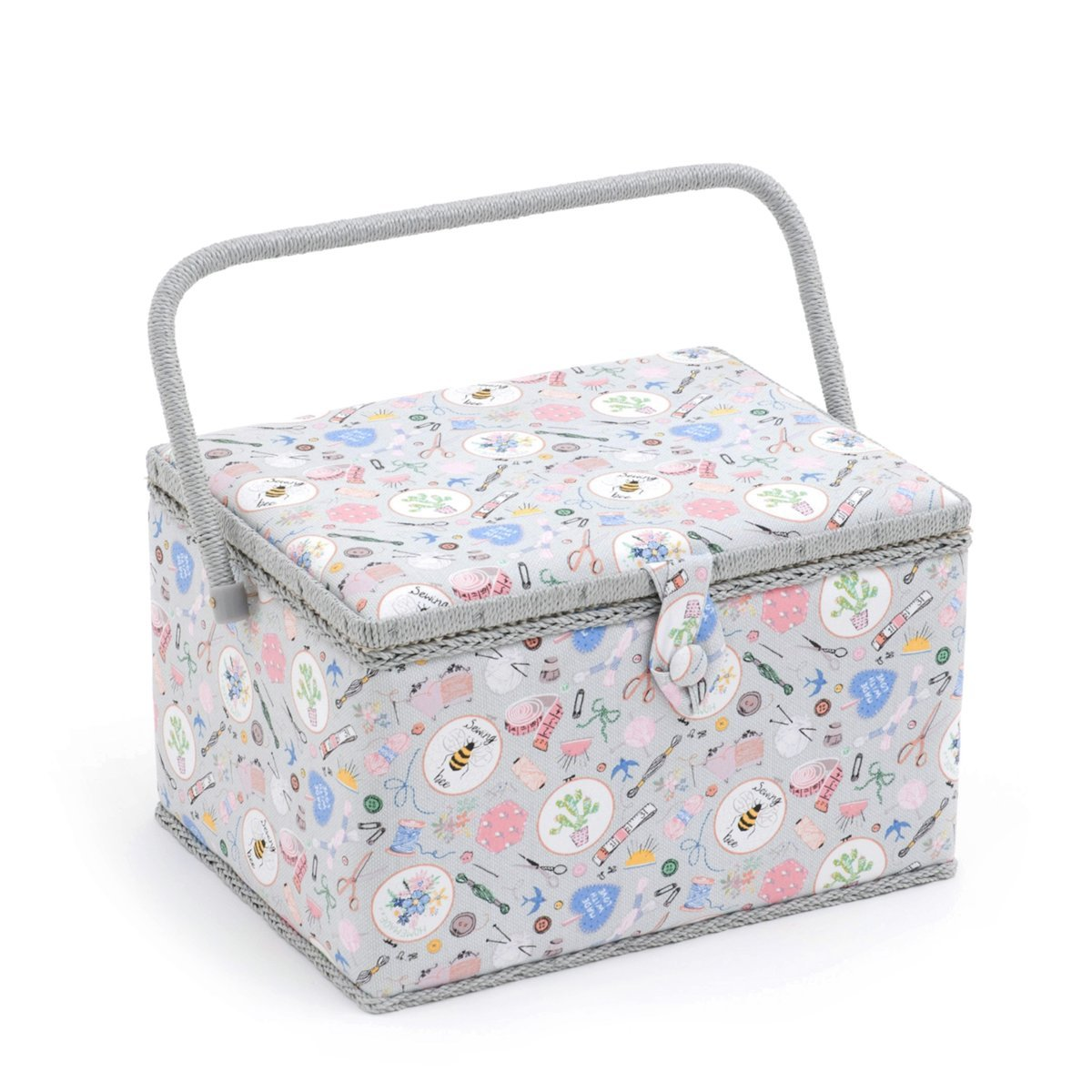 Hobby Gift 'Homemade' Large Rectangle Sewing Box 23.5 x 31 x 20cm (d/w/h) by Hobby Gift