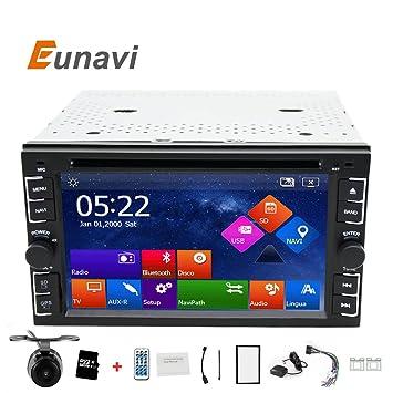 eunavi 2 DIN Radio de coche reproductor de DVD GPS navegación cinta grabadora Autoradio Reproductor de