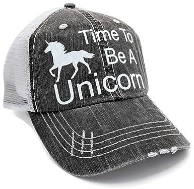 Loaded Lids Women s Time To Be a Unicorn Bling Baseball Cap (Grey White) 7d9ec54780f