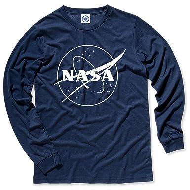 Hank Player Usa Nasa 1 Color Logo Men S Long Sleeve T Shirt