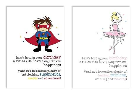 Amazon Dandelion Stationary Superhero And Ballerina Birthday