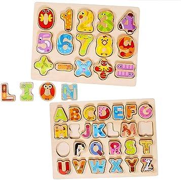 Lewo Puzzles de Madera Número del Alfabeto Juegos de Mesa ...