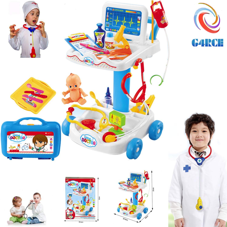 G4RCE® 36Pcs Doctor Medical Set Toy Nurse+ Carry Box Kids Role Play Pretend Kit Case UK