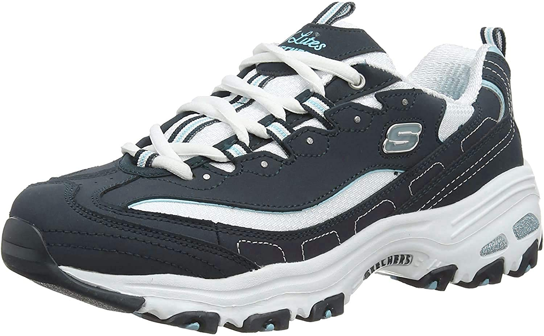 Skechers D'Lites Life Saver Womens Sneakers Navy/White 8.5 W