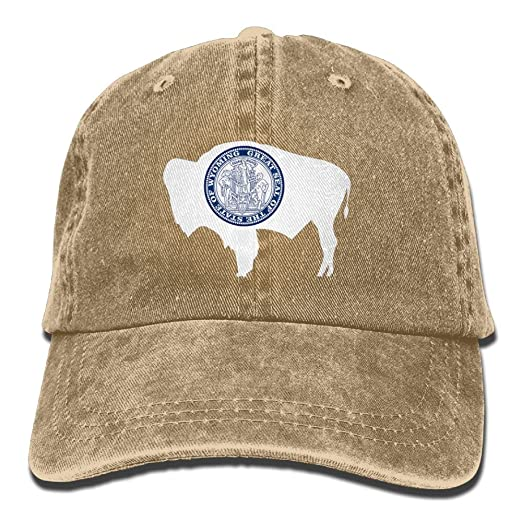 Image Unavailable. Image not available for. Color  KAOMAOXI Baseball Cap  Wyoming State Flag ... 1c006a50c