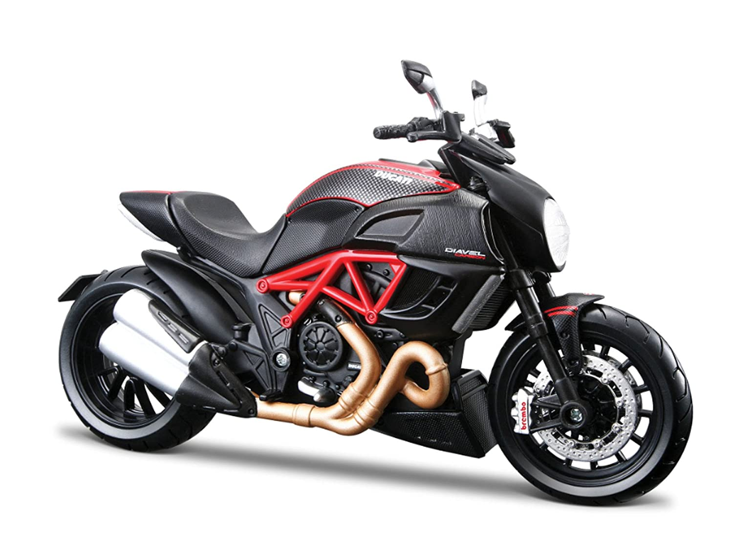 Buy Maisto 1 12 Ducati Diavel Carbon Red Black Online At Low Prices In India Amazon In