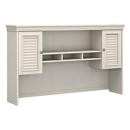 Bush Furniture Fairview Hutch for L Shaped Desk in Antique White - Amazon.com: Bush Furniture Fairview Hutch For L Shaped Desk In
