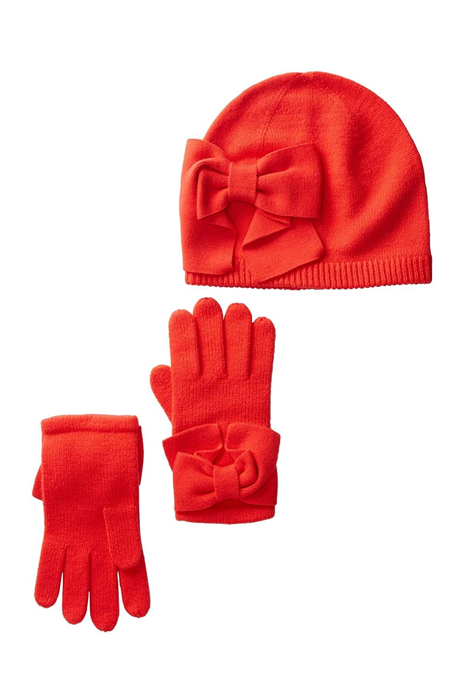 73ff241ad00 Amazon.com  Kate Spade New York Dorothy Bow Beanie   Gloves Set (Black  (001)