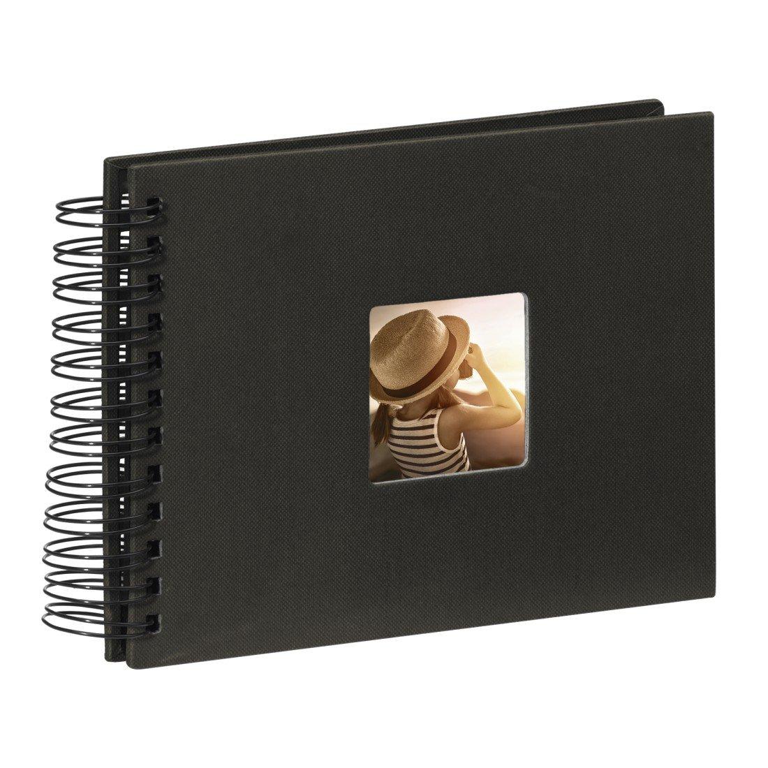 Album photo Fine Art album /à spirales 24 x 17 cm Hama noir 50 pages noires avec d/écoupe pour y mettre une photo 90150 25 pages