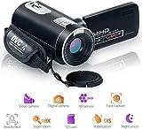 ビデオカメラ カムコーダー デジタルカメラ フルHD 18倍デジタルズーム ナイトビジョン ビデオカムコーダー 270度回転 LCD液晶スクリーン リモコン操作
