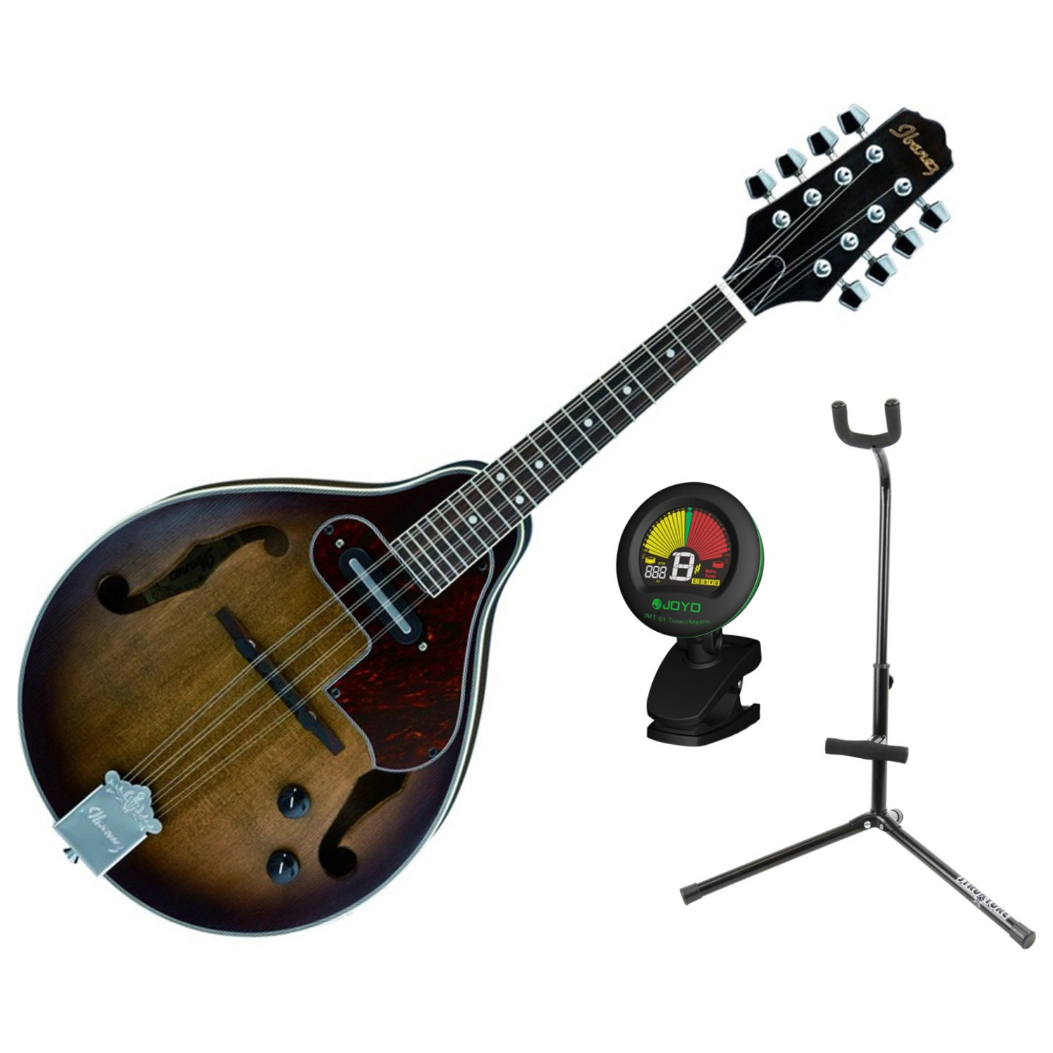 Ibanez M510EOVS A Style Acoustic Electric Mandolin Open Pore Vintage Sunburst Finish w/ Stand and Tuner