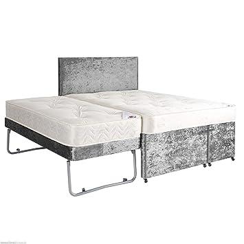 Sleepkings 4ft6 Double Divan Guest Bed With Mattresses Headboard