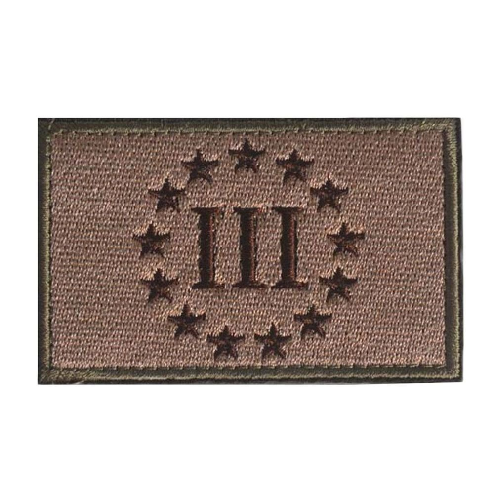 GGG Emblem Three Percenter New Swat Military Tactical Patch Tape Army Morale Badge Mud color