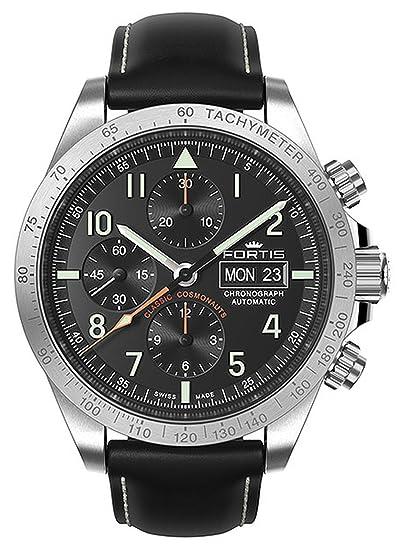 Fortis Classic – Reloj de pulsera para hombre Cosmonauts Cronógrafo P.M. Fecha Analógico Automático 401.21.