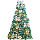Amazon lighted christmas wall tree home kitchen frosted blue and silver christmas wall tree aloadofball Gallery