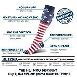 HLTPRO Compression Socks for Women & Men - Knee