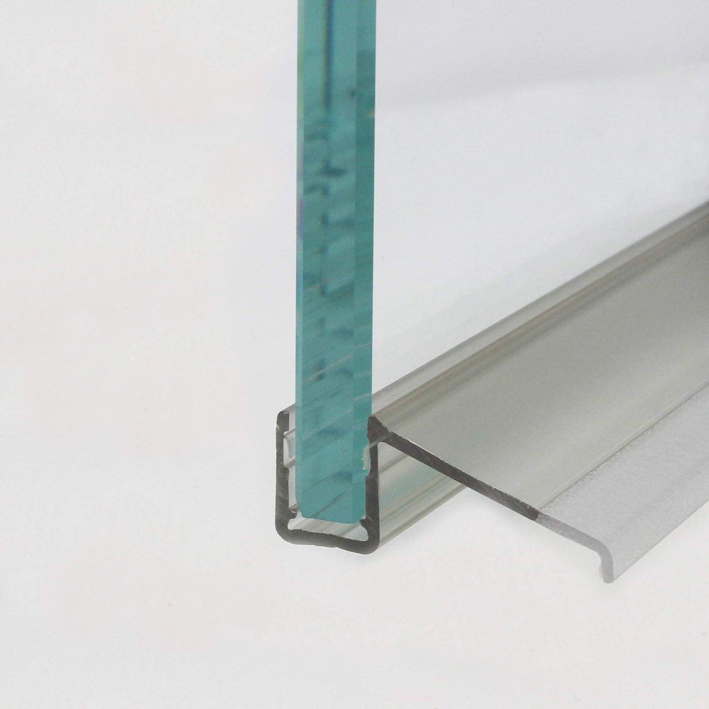 Perfil de drenaje de agua Heiler en combinación con barra semicircular de Plexi para vidrio de 6 y 8 mm de grosor.: Amazon.es: Bricolaje y herramientas