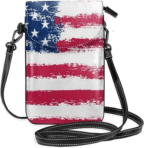 Suminla-Home Dirty Grunge Bandera Americana Pequeño teléfono ...