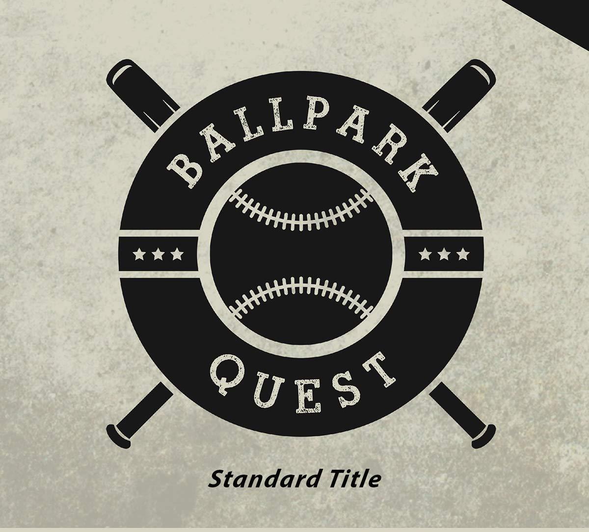 Sports Gift For Baseball Fans Includes 35 Red Map Push Pins GeoJango Framed Baseball Stadium Map
