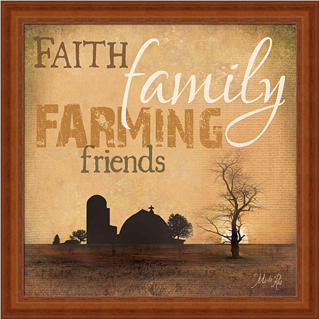 Amazon.com: Faith Family Farming Friends by Marla Rae Sign 15x15 ...