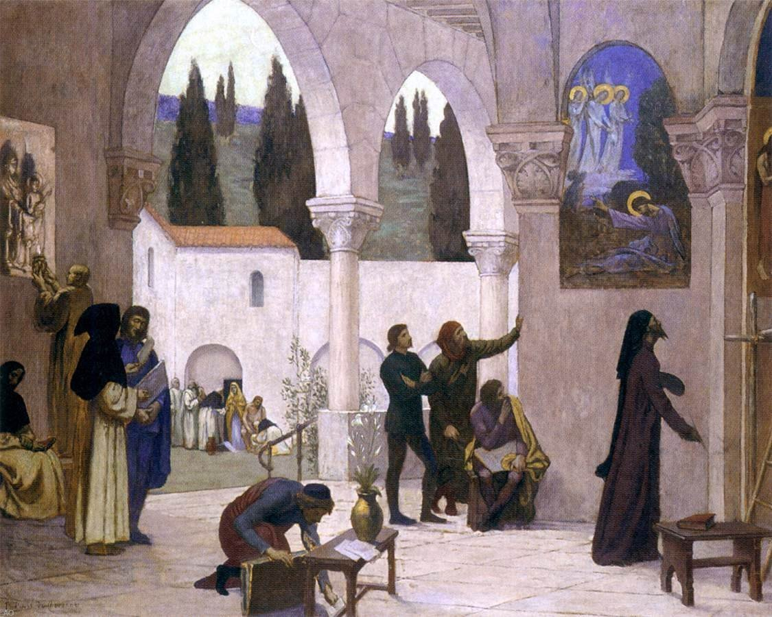Pierre Puvis De Chavannes Christian Inspiration - 20'' x 25'' 100% Hand Painted Oil Painting Reproduction by Art Oyster