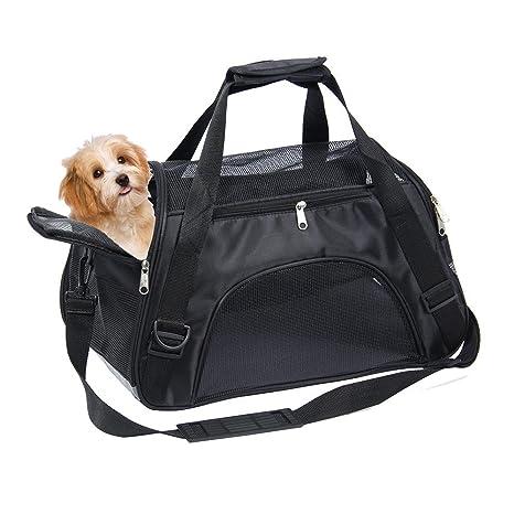 Leegoal Pequeño Portador de Perro, Portátil Suave Pequeño Gato Carrier Bolso de Bolso, Malla