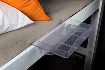 bedside buddy. Brilliant Buddy Bunk Buddy Bedside Shelf  Ice Clear Intended
