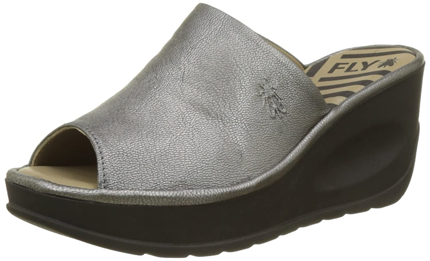 Silber (Lead) FLY London Damen Jamb865fly Pantoletten