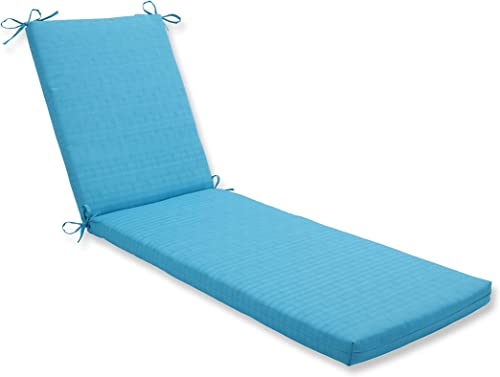 Pillow Perfect Outdoor Indoor Veranda Turquoise Chaise Lounge Cushion 80x23x3,Blue