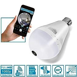 NUNET 2018 Upgraded Light Bulb Camera NuCam 360