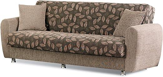 Amazon.com: BEYAN Chestnut 2016 Collection Convertible Sofa ...