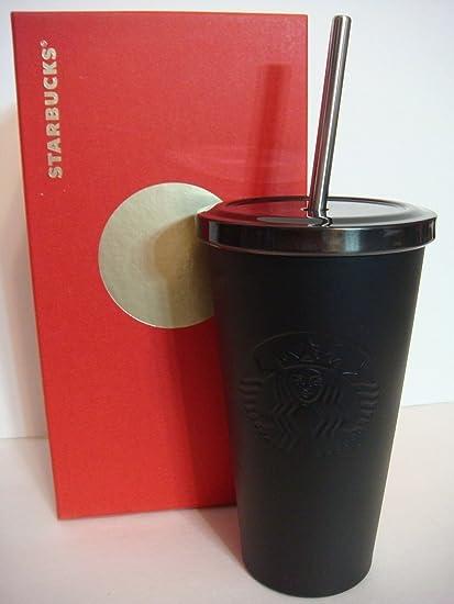 8aced1b8bf6 Starbucks Cold Cup Tumbler - Matte Black, 16 Fl Oz: Amazon.co.uk ...