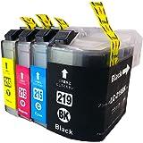 ブラザー BROTHER LC219-215-4PK 4色セット(ブラック/シアン/マゼンタ/イエロー)ブラック 増量タイプ 互換インクタンク 【ICチップ付】 対応機種 MFC-J5720CDW MFC-J5620CDW MFC-J5820DN「JAN:4582480216264」インクのチップスオリジナル