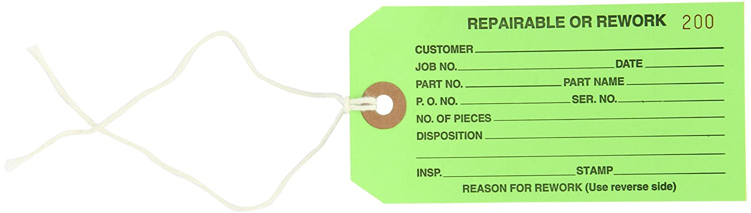 "B000ZJSBSE Aviditi Pre Strung Inspection Tag, Legend""REPAIRABLE or REWORK"", 13 Point Cardstock, Black on Green (G20042) 71xtx-6x03L._SL1500_"