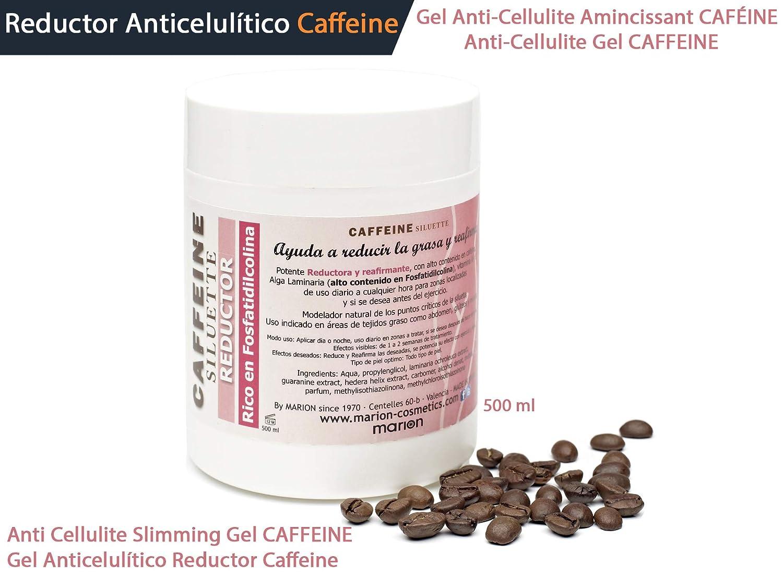 Gel Anticelulítico Reductor Caffeine xxl - 500ml . Reafirmante con Alto Contenido en Cafeína, Alga Laminaria (Fosfatidilcolina), Vitamina A y E. Todo Tipo ...