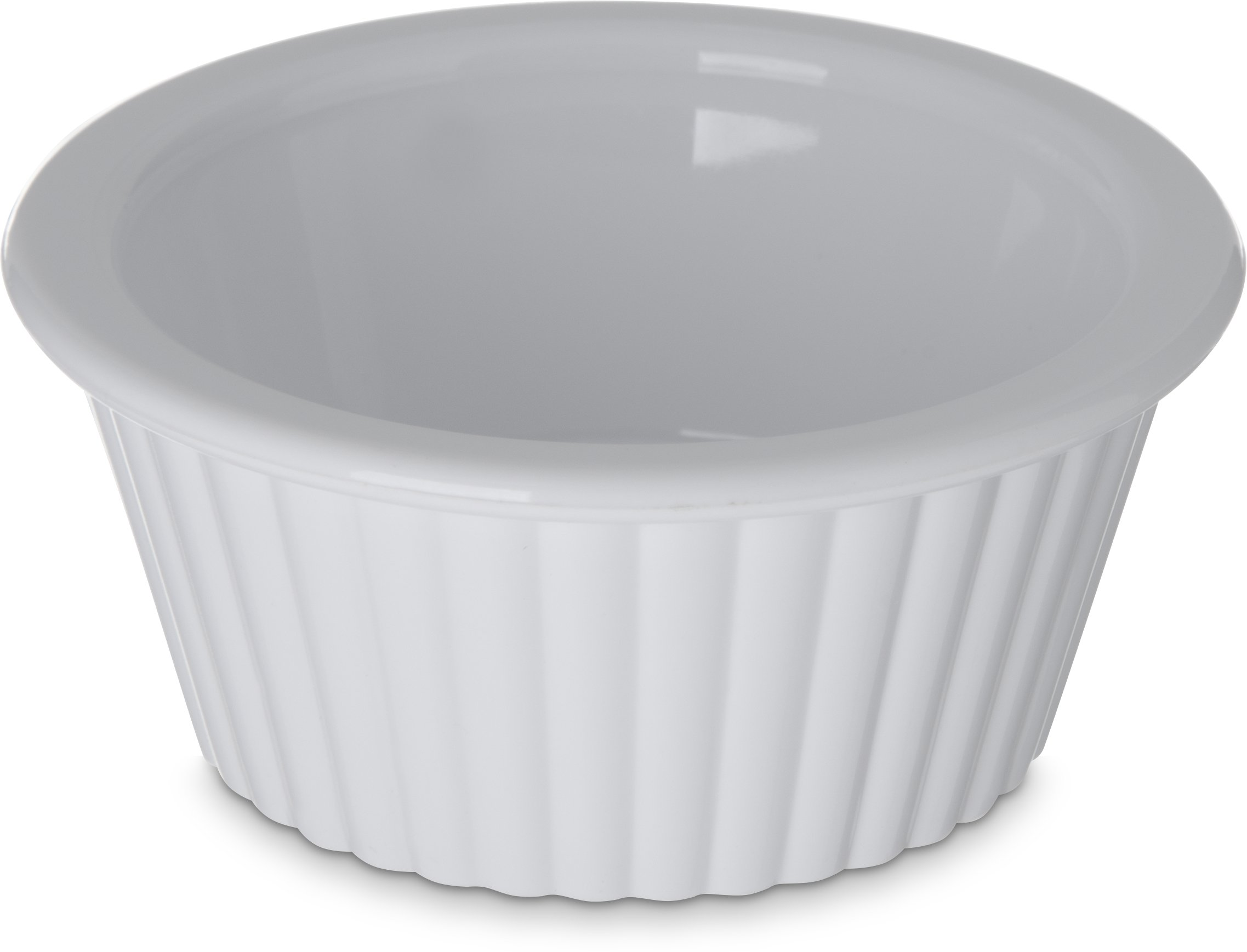 Carlisle 084302 SAN Fluted Ramekin, 1 oz Capacity, White (Case of 48)