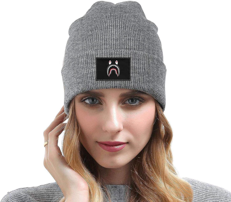 Unisex Shark PONR TEE Mens Knit Cap Winter Warm Fine Knit for Mens Womens