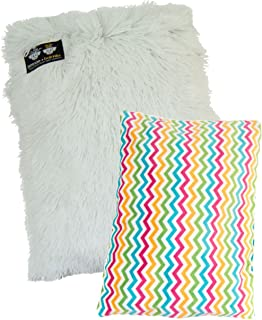 product image for BESSIE AND BARNIE Mesh Deluxe Ocean Wave/Snow White Shag Pet Dog Durable Crate Pad