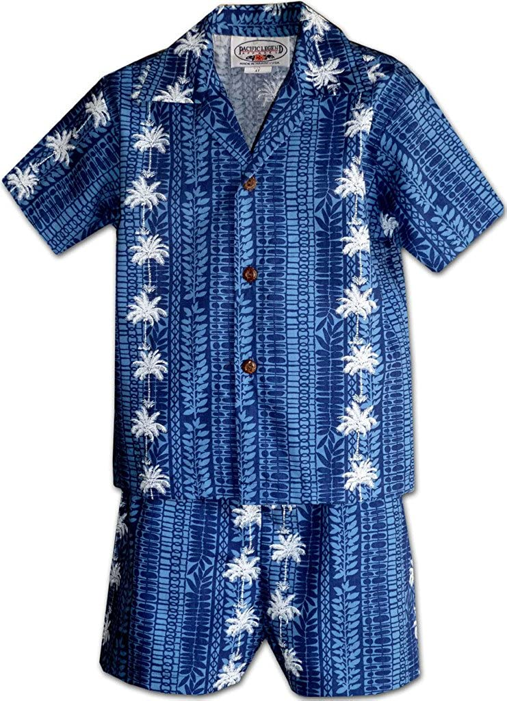 Pacific Legend Coconut Tree Panels Boys Outfit