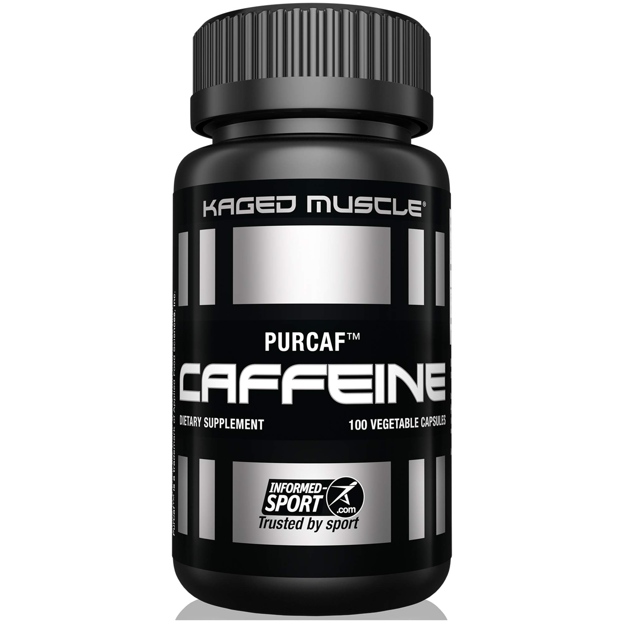Kaged Muscle, PurCaf Organic Caffeine Capsules, Energy Boost, No Jitters, 90% Pure Caffeine, 100 Caffeine Pills by Kaged Muscle