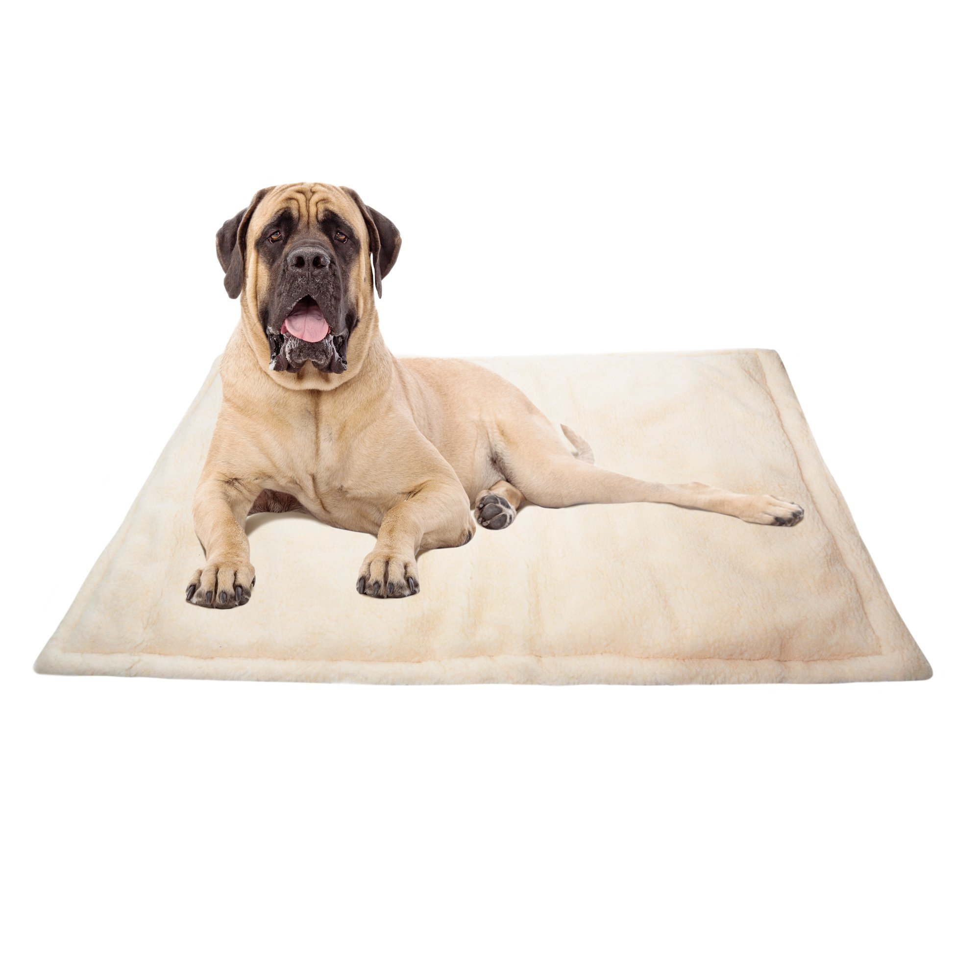 All Seasons Products 48x30 inch Dog Kennel Crate Mat Pad and Pet Bed for Extra Large Dogs, Machine Washable, Water-Resistent, Indoor or Outdoor