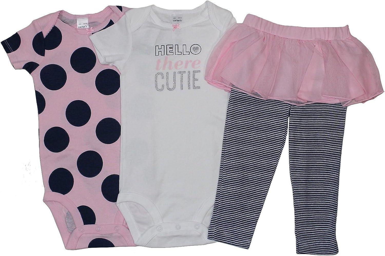 Shirt  and Leggings Carter/'s Girl/'s  Set 3 Piece Set Body Suit