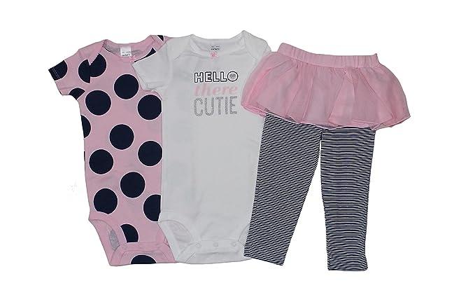 Amazon.com: De Carter bebé Niñas Hello There Cutie 3 piezas ...