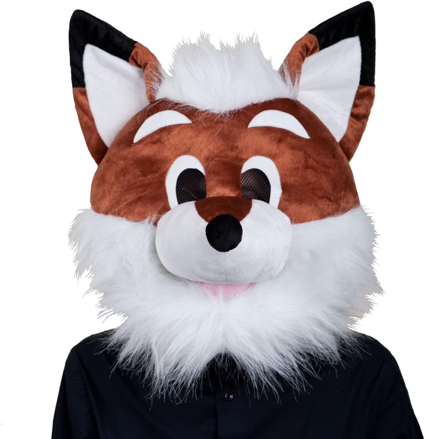 Amazon Com Adults Plush Fox Head Mask Halloween Fancy Dress Up Party Costume Accessory New Toys Games